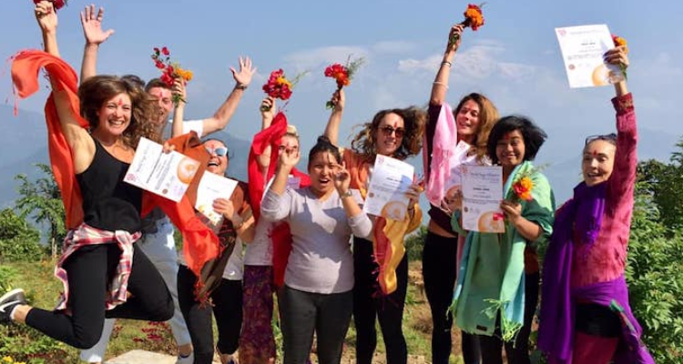 22 - days 200 hour Yoga Teacher Training in Kathmandu, Nepal.